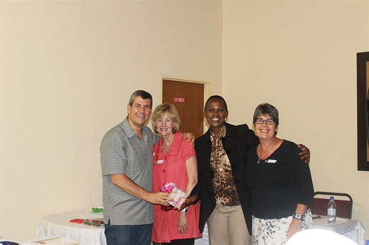 Malichaba Lekhoaba and Reach Beyond Team after training of  support group Thaba-Bosiu