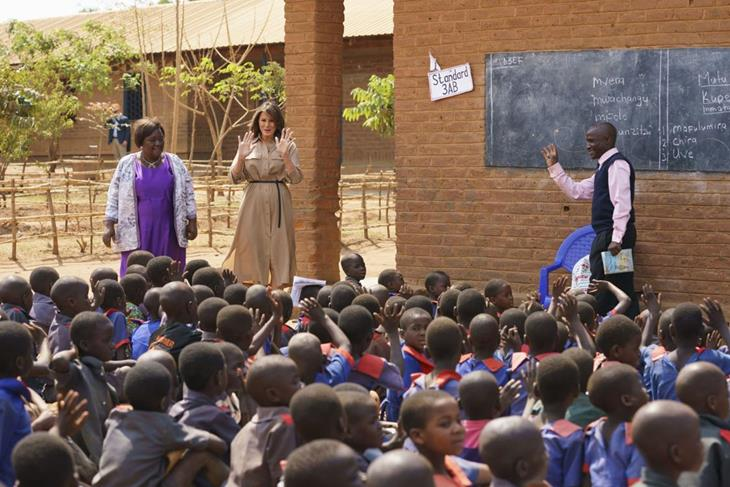 Melania Trump promotes US agency in Malawi, husband wants to cut the funding.