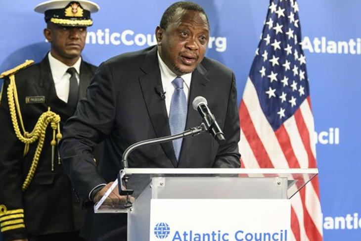 Kenya President Uhuru Kenyatta warns against US, China rivalry in Africa.